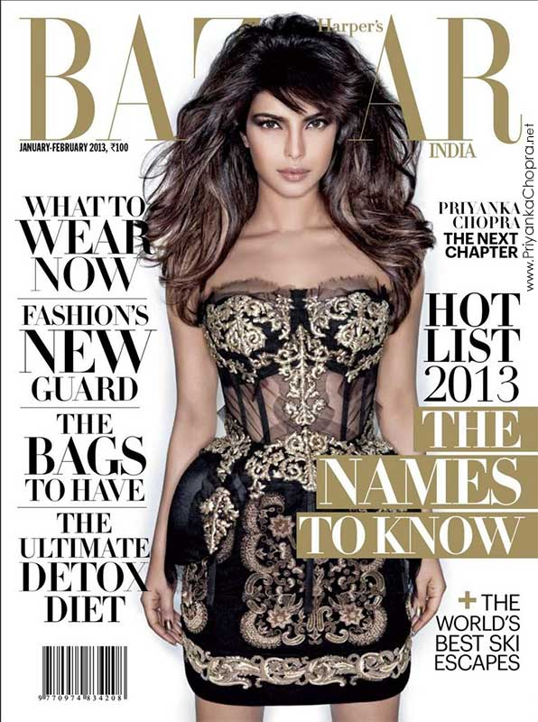 Priyanka Chopra – Harper s Bazaar India (January – February 2013)