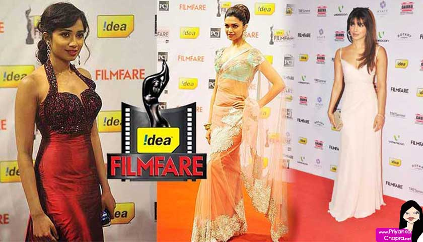 Idea Filmfare Awards: Shreya Ghoshal, Deepika Padukone, Priyanka Chopra