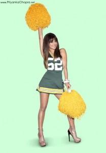 Priyanka Chopra NFL Jersey Promo Shoot