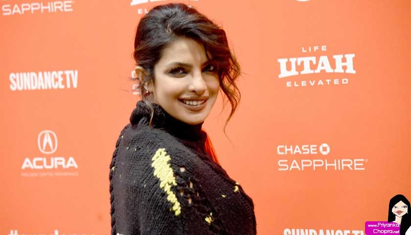 priyanka chopra, orange back