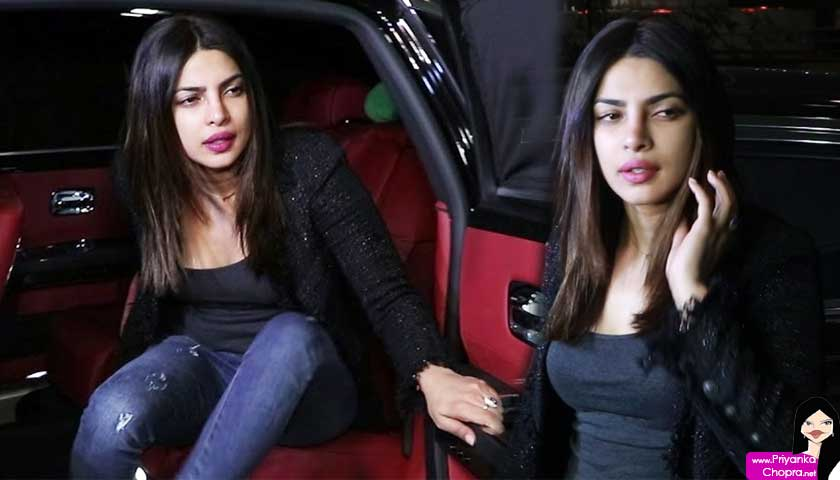priyanka chopra, car out, black sports