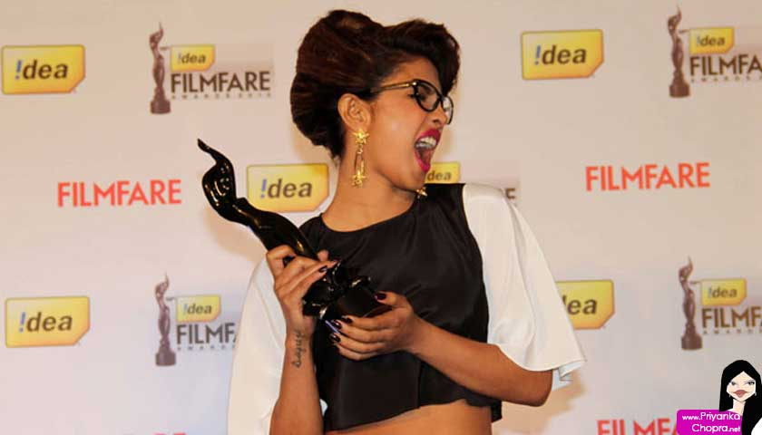 priyanka chopra, filmfare award winning