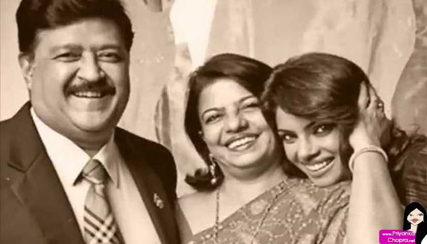priyanka chopra, mother, father